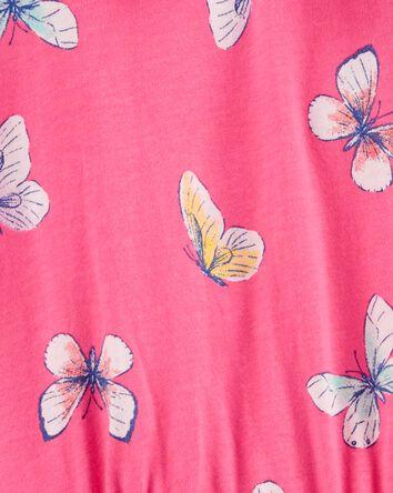 Barboteuse en jersey à papillons