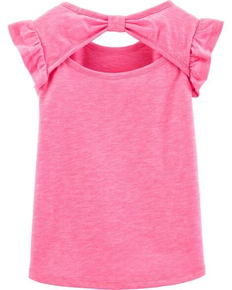 T-shirt asymétrique flammé avec narval fluo