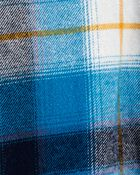 Cache-couche en flanelle à motif écossais, , hi-res
