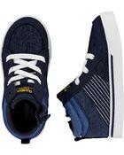 Navy High-Top Sneakers, , hi-res