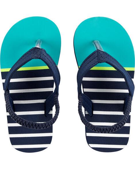 Sandales de plage à rayures