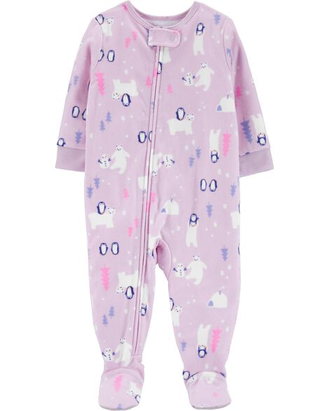 1-Piece Winter Wonderland Fleece PJs
