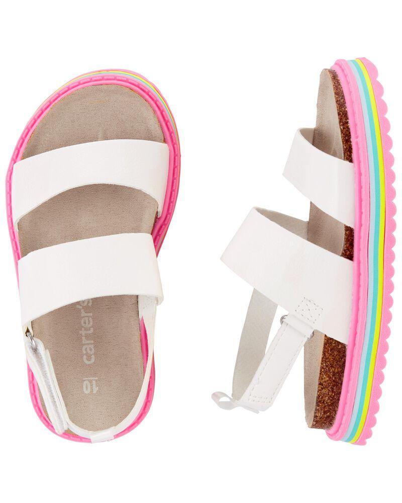 Sandales à talon plateforme, , hi-res