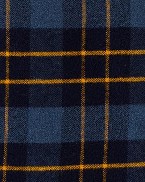 Chemise à capuchon en flanelle