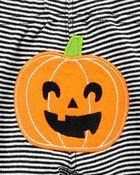 Ensemble citrouille d'Halloween 2 pièces cache-couche et pantalon, , hi-res