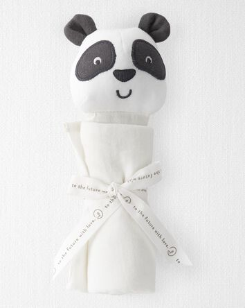 Organic Cotton Muslin Panda Lovie
