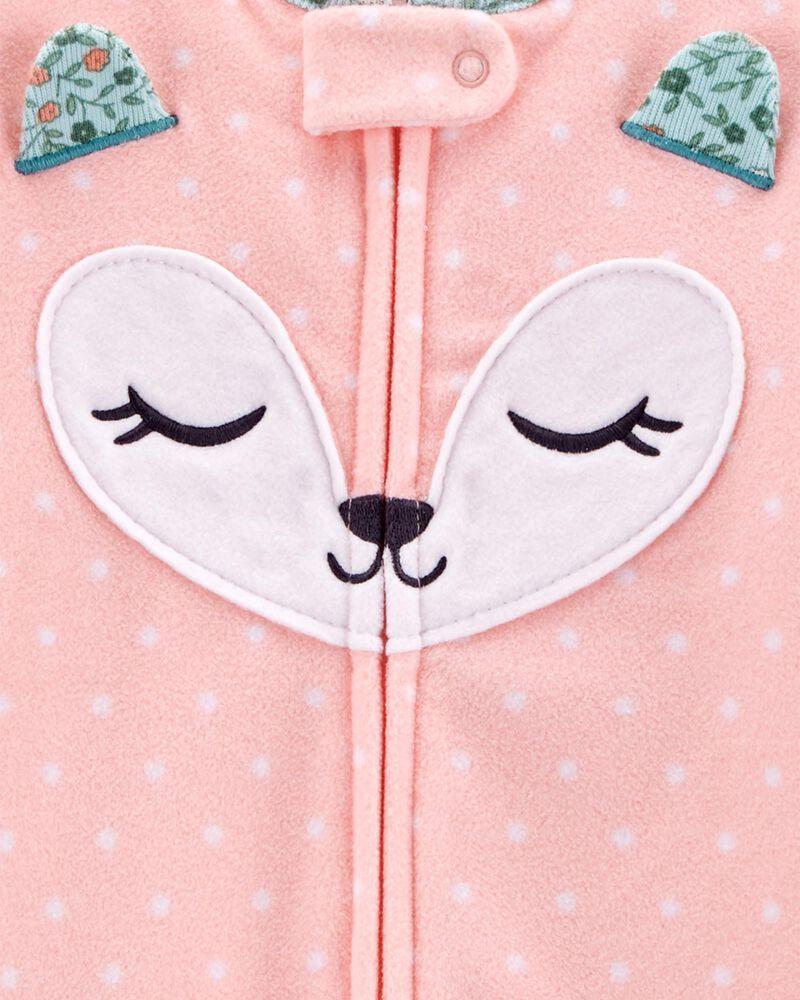 1-Piece Fox Fleece Footless PJs, , hi-res
