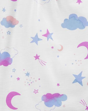 3-Piece Moon & Stars Loose Fit PJs