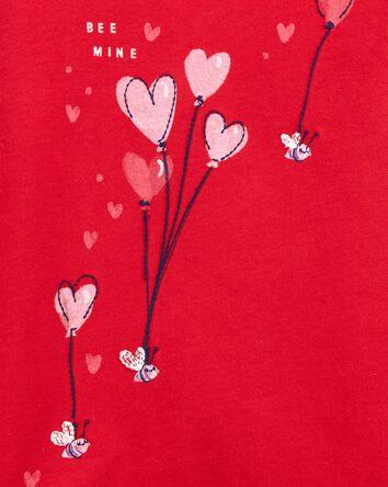 T-shirt à encolure arrondie Bee Min...