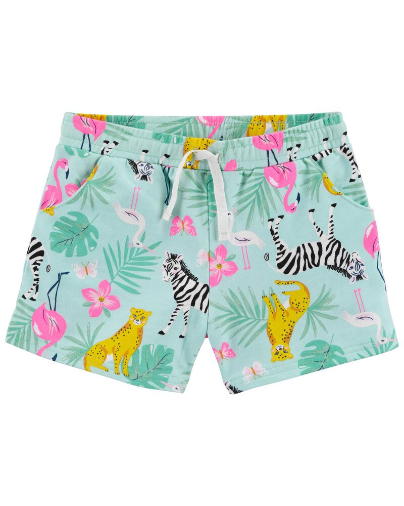 Tropical Pull-On Shorts, , hi-res