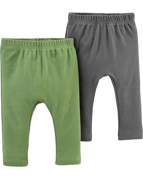 Emballage de 2 pantalons en coton certifié biologique