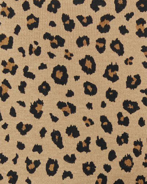3-Piece Leopard & Floral Bodysuit Pant Set