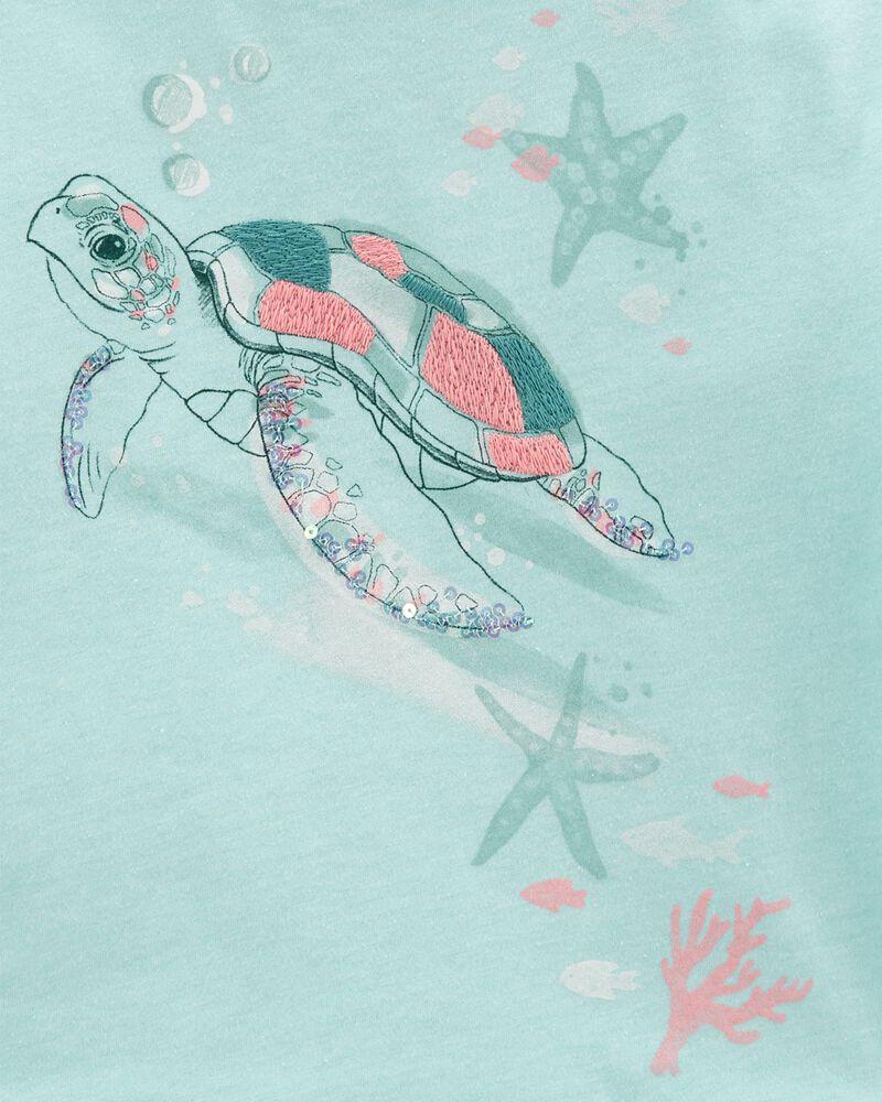 Sea Turtle Boxy Crop Top, , hi-res
