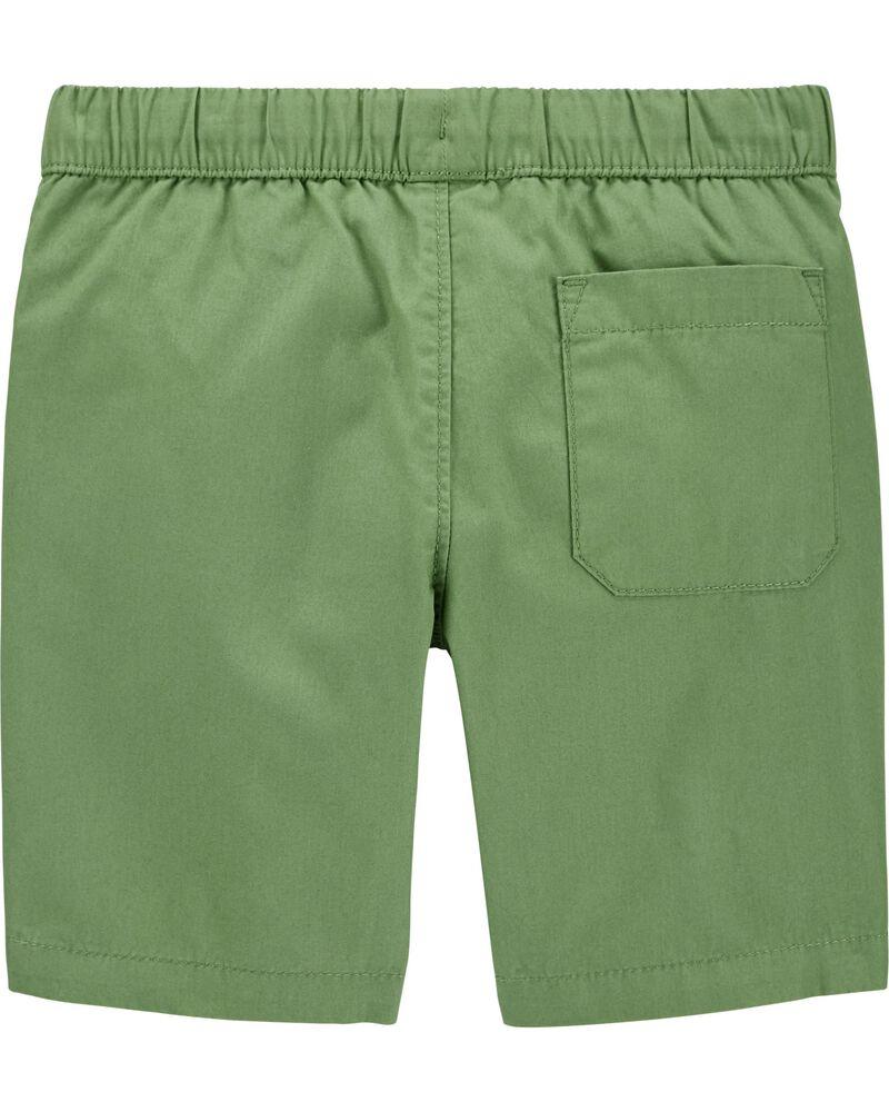 Pull-On Poplin Shorts, , hi-res