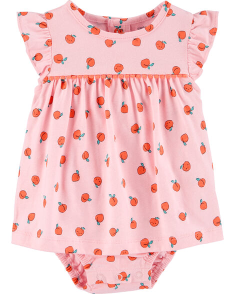 Peach Jersey Sunsuit