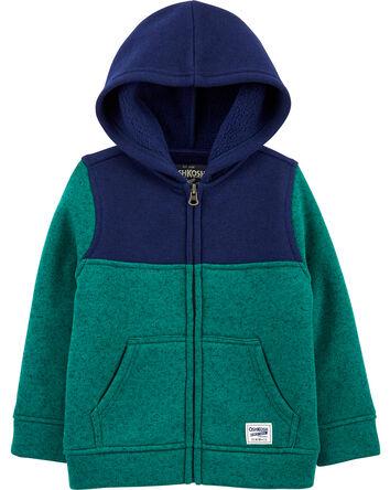 Zip-Up Sherpa Hoodie