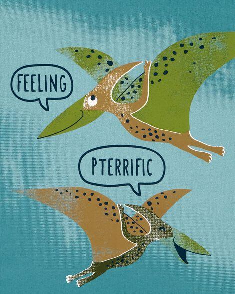 Feeling Pterrific Dinosaur Jersey Tee