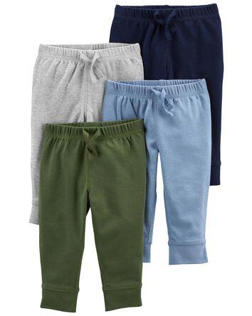 Emballage de 4 pantalons en coton à...
