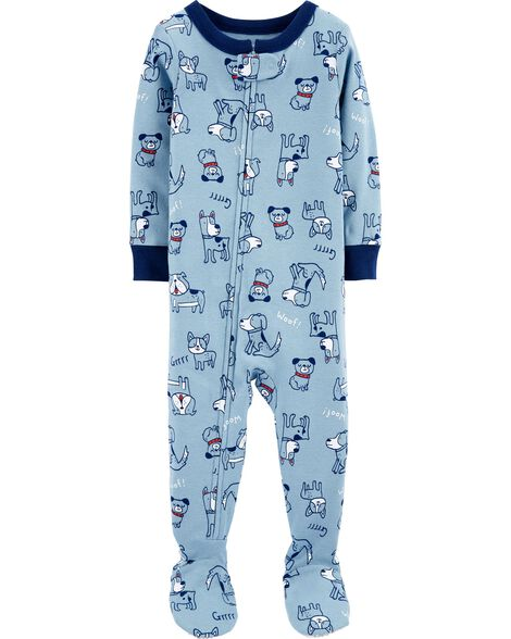 1-Piece Dog Snug Fit Cotton Footie PJs