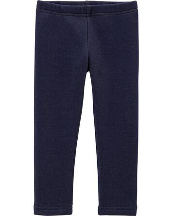 Knit Denim Cozy Fleece Leggings