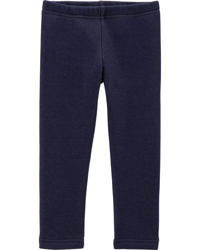 Knit Denim Cozy Fleece Leggings, , hi-res