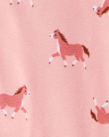 1-Piece Horse Fleece Footie PJs