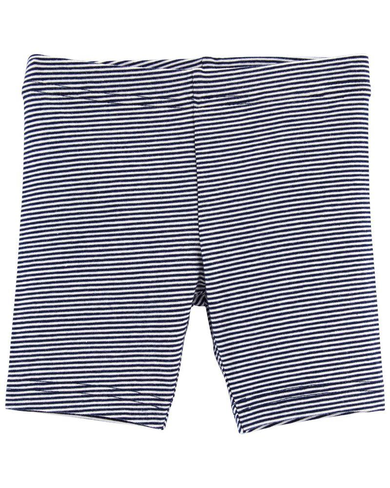Striped Bike Shorts, , hi-res