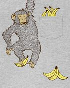 Ensemble 2 pièces t-shirt en jersey à singe et short , , hi-res
