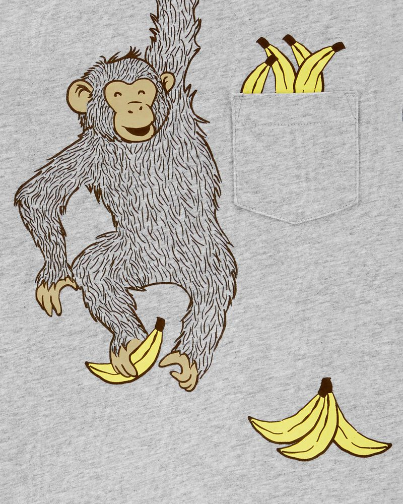 2-Piece Monkey Jersey Tee & Short Set, , hi-res