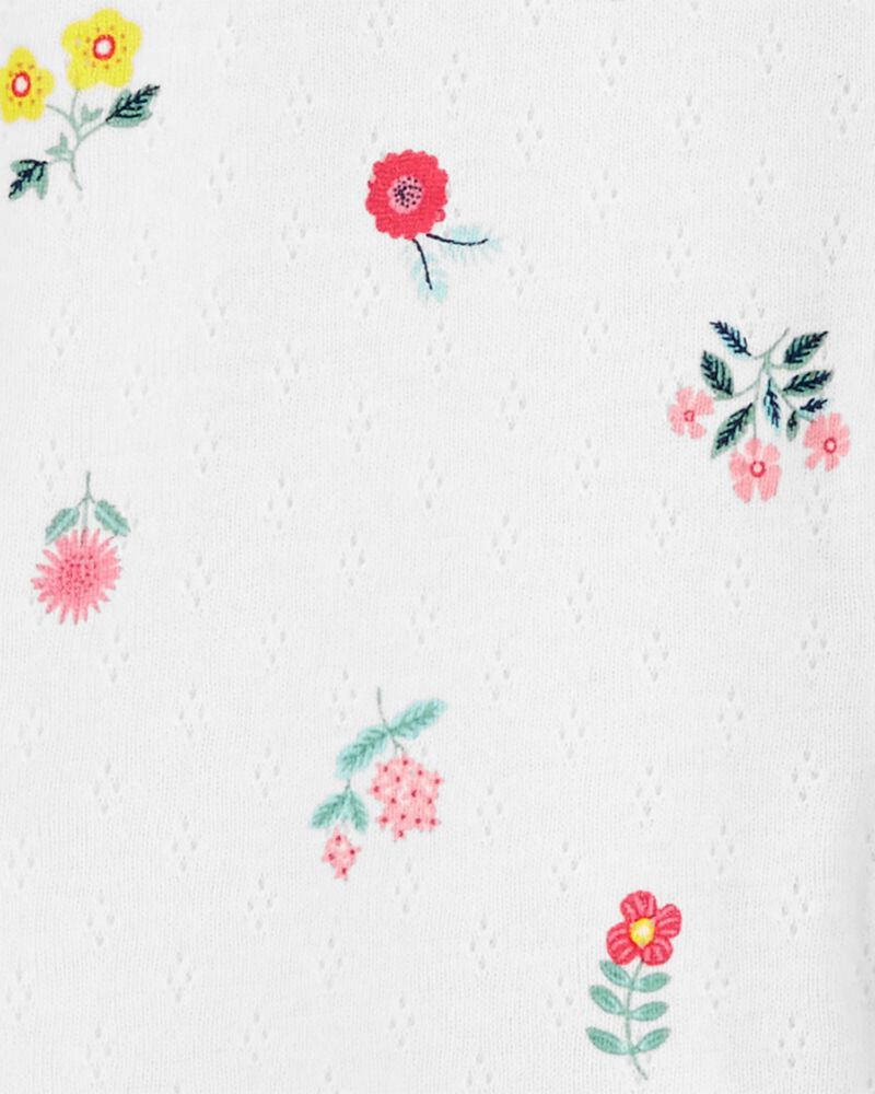 Floral Snap-Up Pointelle Sleep & Play, , hi-res
