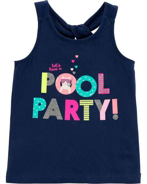 Débardeur à nœud Pool Party