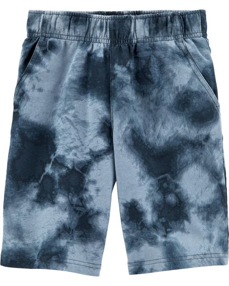 Pull-On Tie-Dye French Terry Shorts
