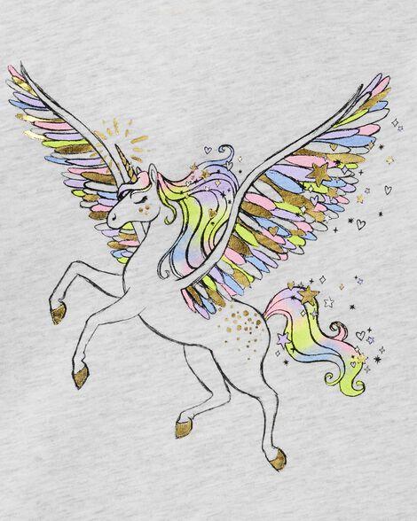 T-shirt à manches volantées à licorne