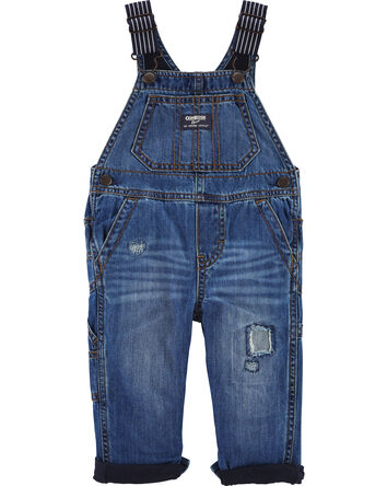 Jersey-Lined Rip and Repair Denim O...