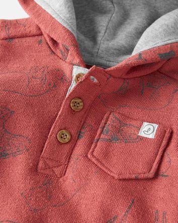 Organic Cotton Hooded Sunsuit