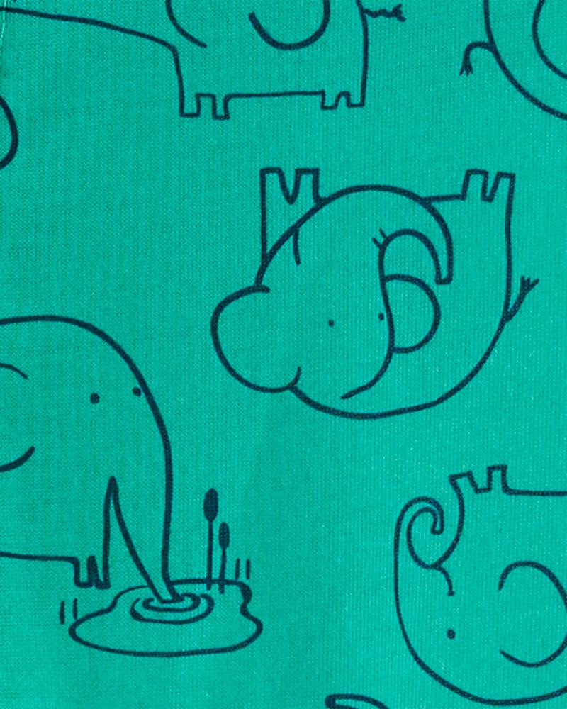 Pyjama 1 pièce en polyester à pieds motif éléphant, , hi-res