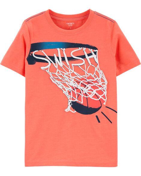 Basketball Snow Yarn Jersey Tee
