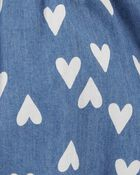 Heart Chambray Romper, , hi-res