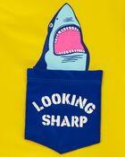 Maillot dermoprotecteur à poche et requin, , hi-res