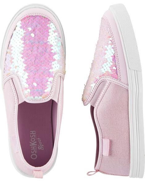 Flip Sequin Slip-On Shoes