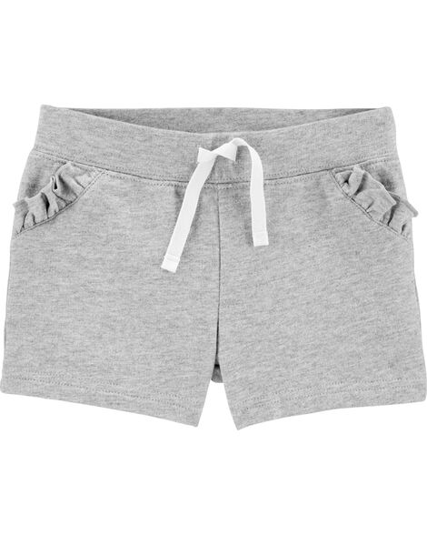 Pull-On Ruffle French Terry Shorts