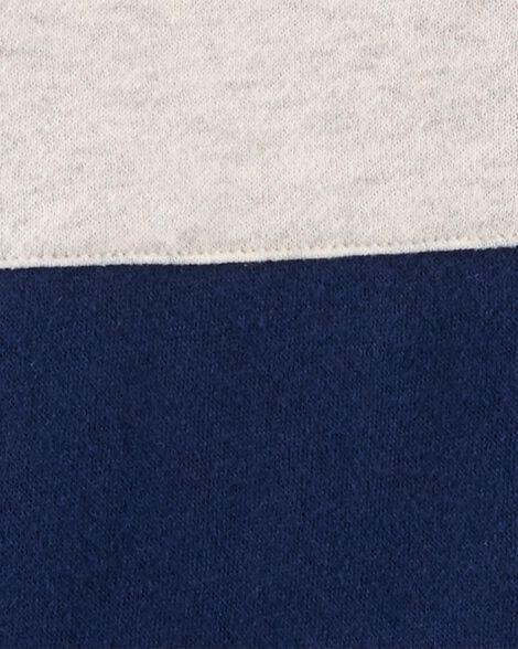 Kangourou en molleton de couleurs contrastantes
