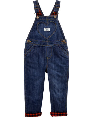 Lined Heart Pocket Overalls
