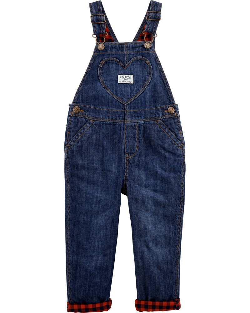 Lined Heart Pocket Overalls, , hi-res