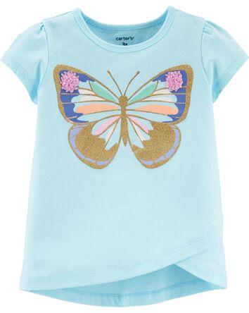 T-shirt en jersey à papillons et tu...