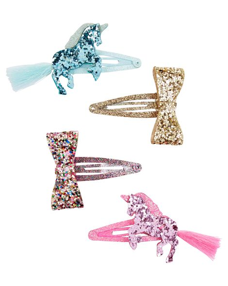 4-Pack Unicorn Hair Clips