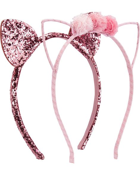 2-Pack Cat Ears Headbands
