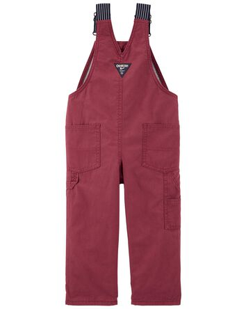 Jersey-Lined Canvas Overalls