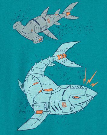 T-shirt en jersey à imprimé de requ...