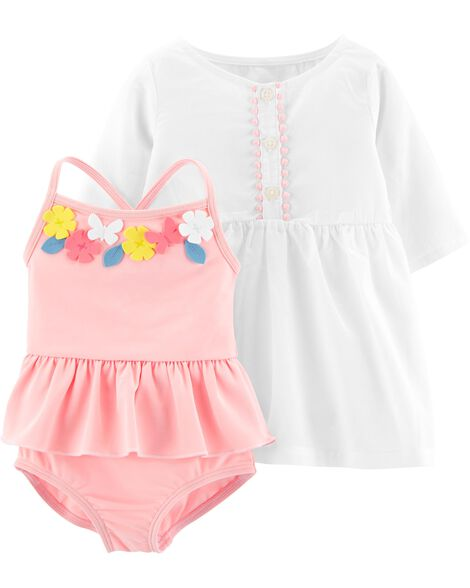 2-Piece Swimsuit & Cover-Up Set